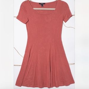 Forever 21 Dark Salmon Pink Colored Basic Dress